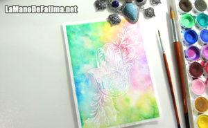 Como dibujar la mano de fatima en color