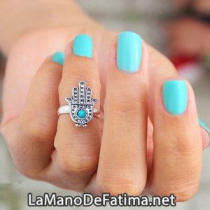 anillo accesorios de la mano de fatima