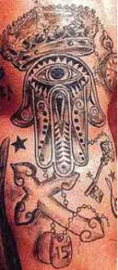 tatuaje sergio ramos mano de fatima